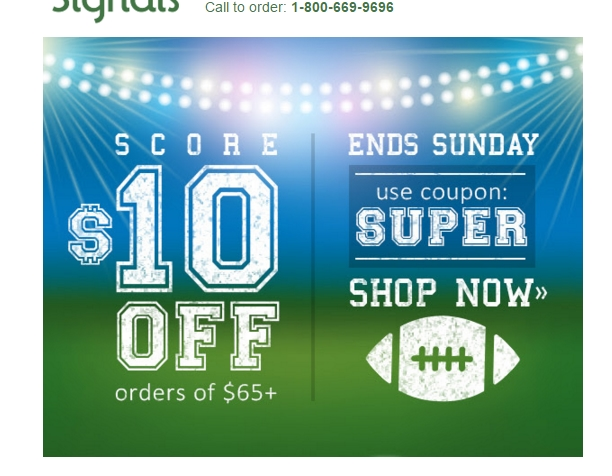 Signals coupon code