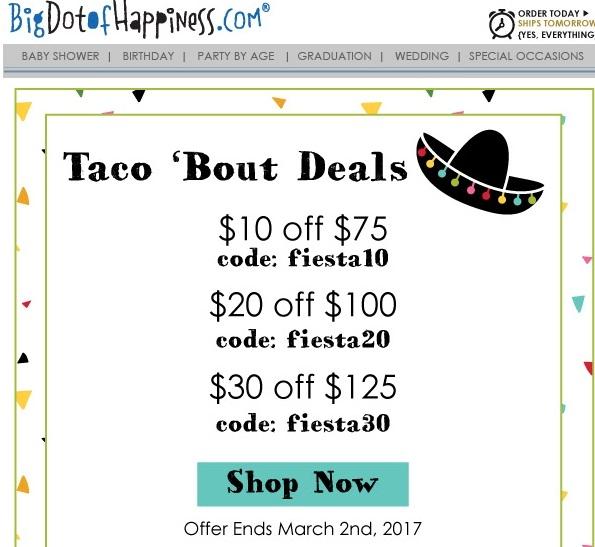 Big dot of happiness coupon code