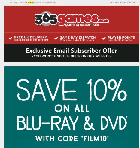 365 games coupons