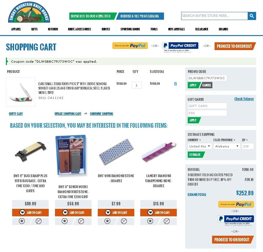 Amazon knife coupon code