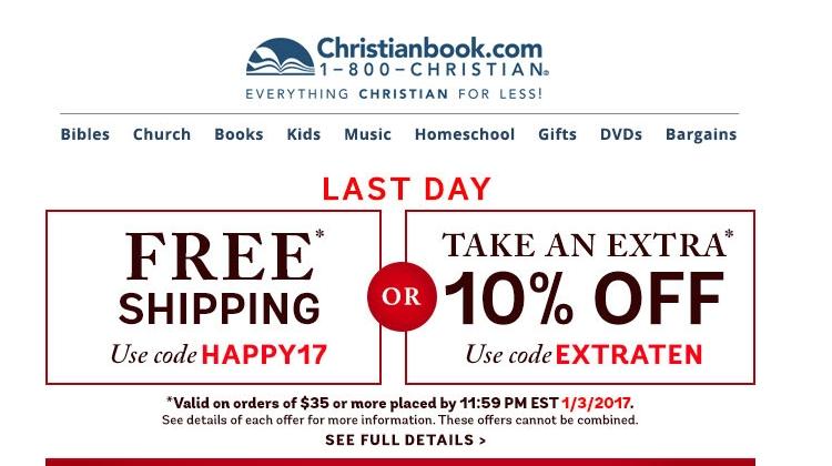 Discount coupon for christianbook com