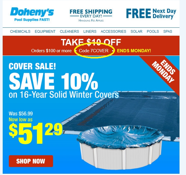 The Doheny's difference is that you are able to have exclusive access to commercial grade products for your personal aqua experience. 42 Doheny's Water Warehouse coupons, including 8 Doheny's Water Warehouse coupon codes & 34 deals for November