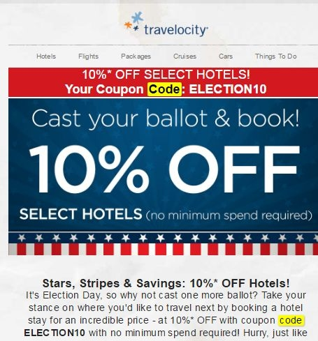 Travelocity hotel coupon code 2018