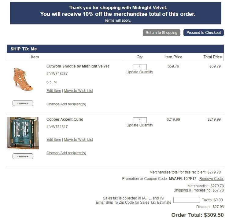 Midnight velvet coupons