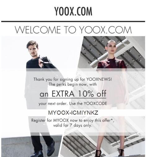 Yoox discount coupon
