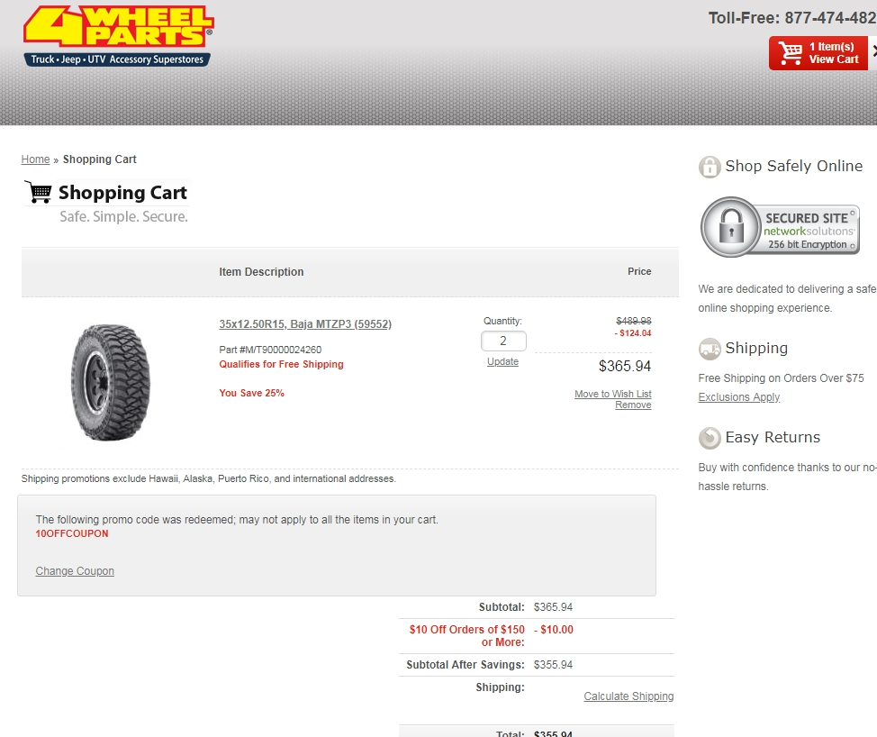 4wheelparts coupon code