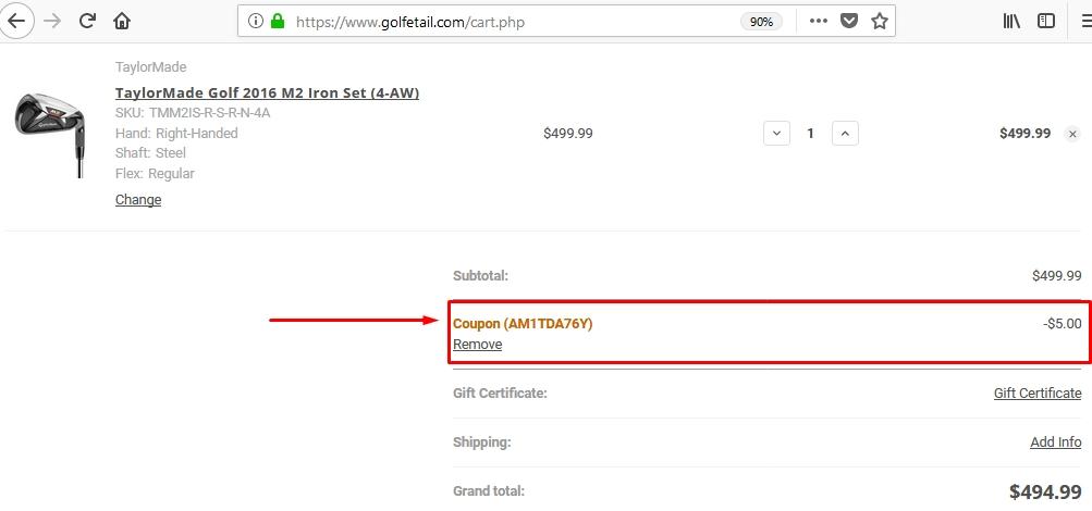 Golfetail coupon code