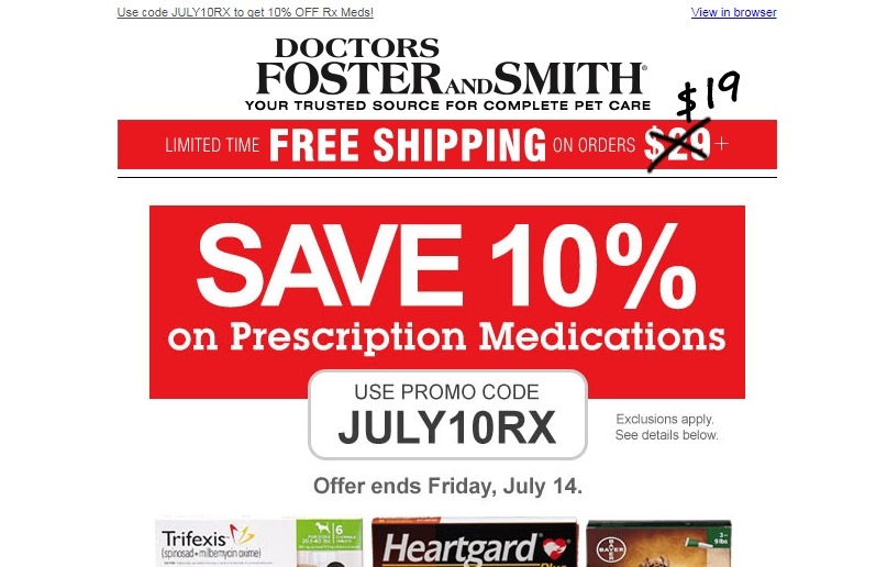 Drs foster and smith coupon $5