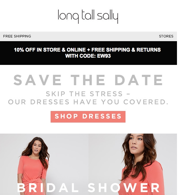 Long tall sally discount coupon