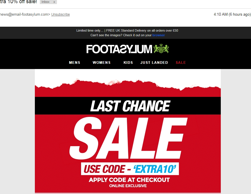 About Footasylum. Footasylum is a shoe store that branches out into a number of additional clothing options for both men and women. The handy layout makes searching through the store easy, and there are numerous categories for all types of products.
