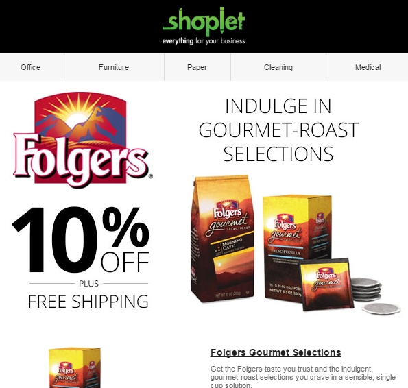 Shoplet is a leading e-retailer that provides consumers with everything they need for their business. Their vast selection covers categories such as office s.