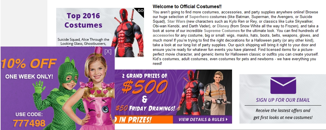 Official scary costumes coupon code - Td bank coupon