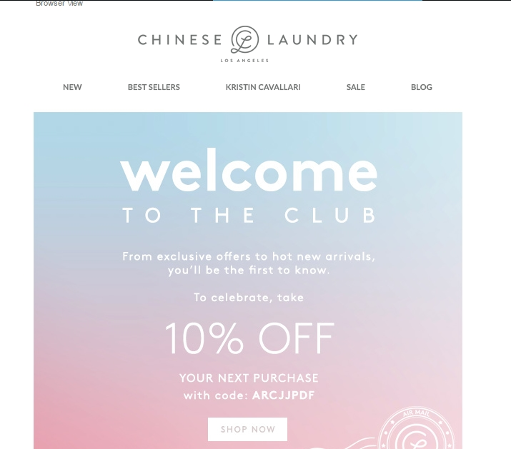 Chinese laundry coupon code
