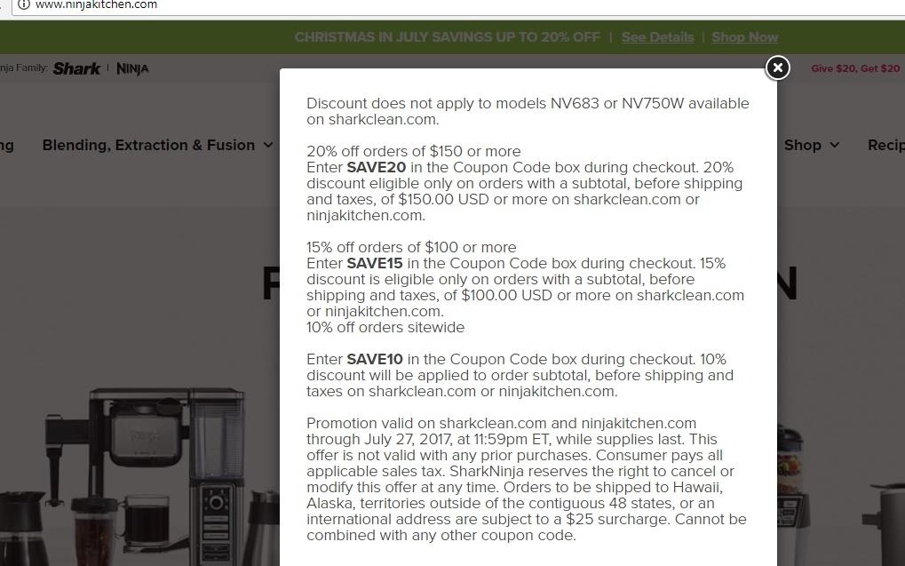 Ninja kitchen coupon code