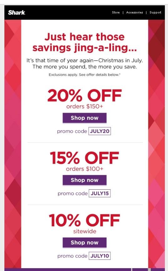 Shark promo coupon code