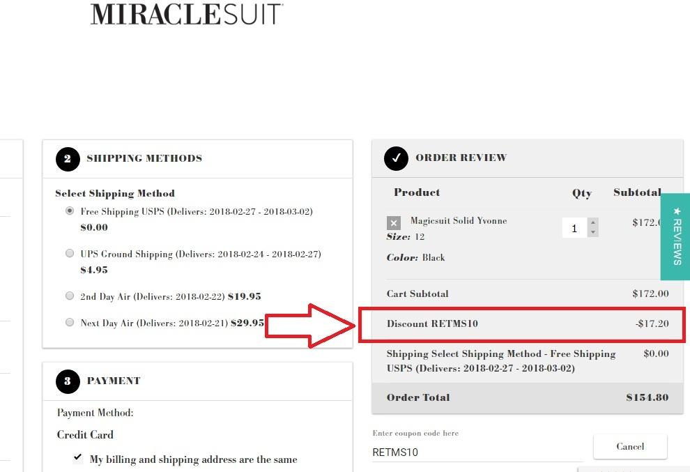 Miraclesuit coupon code
