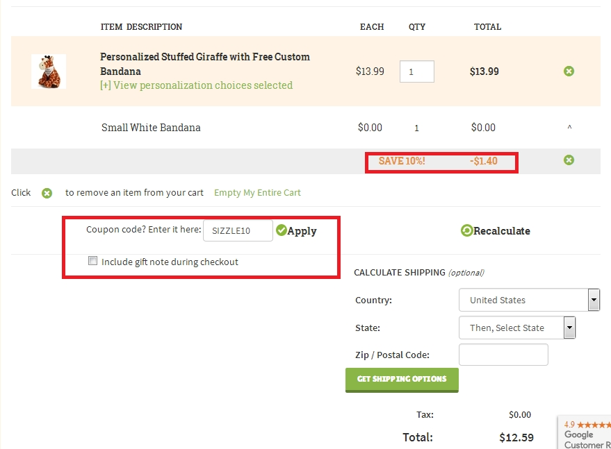 Stuffed safari coupon code