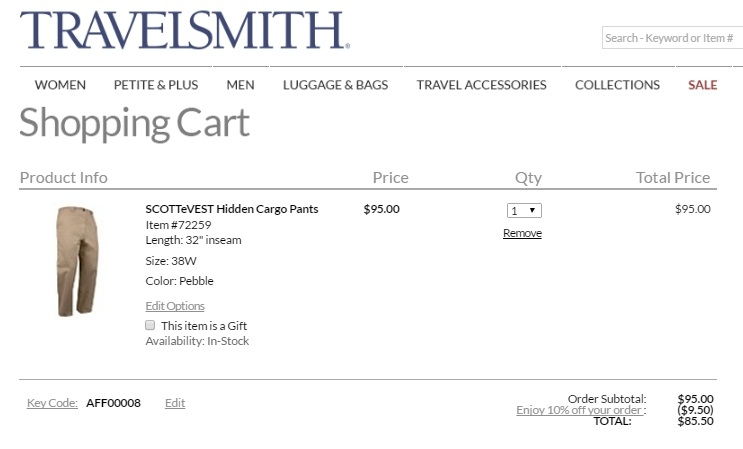 Travelsmith coupon code
