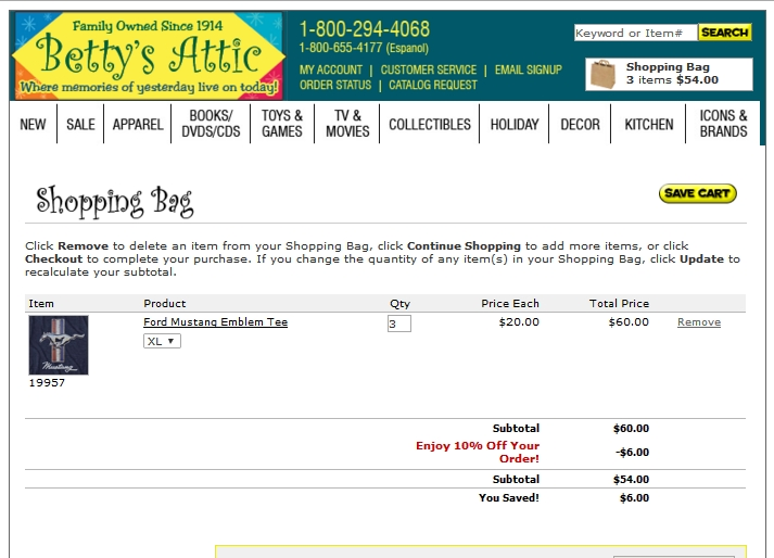 Bettys attic coupon code
