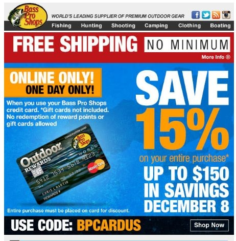 Bass pro shop discount coupons