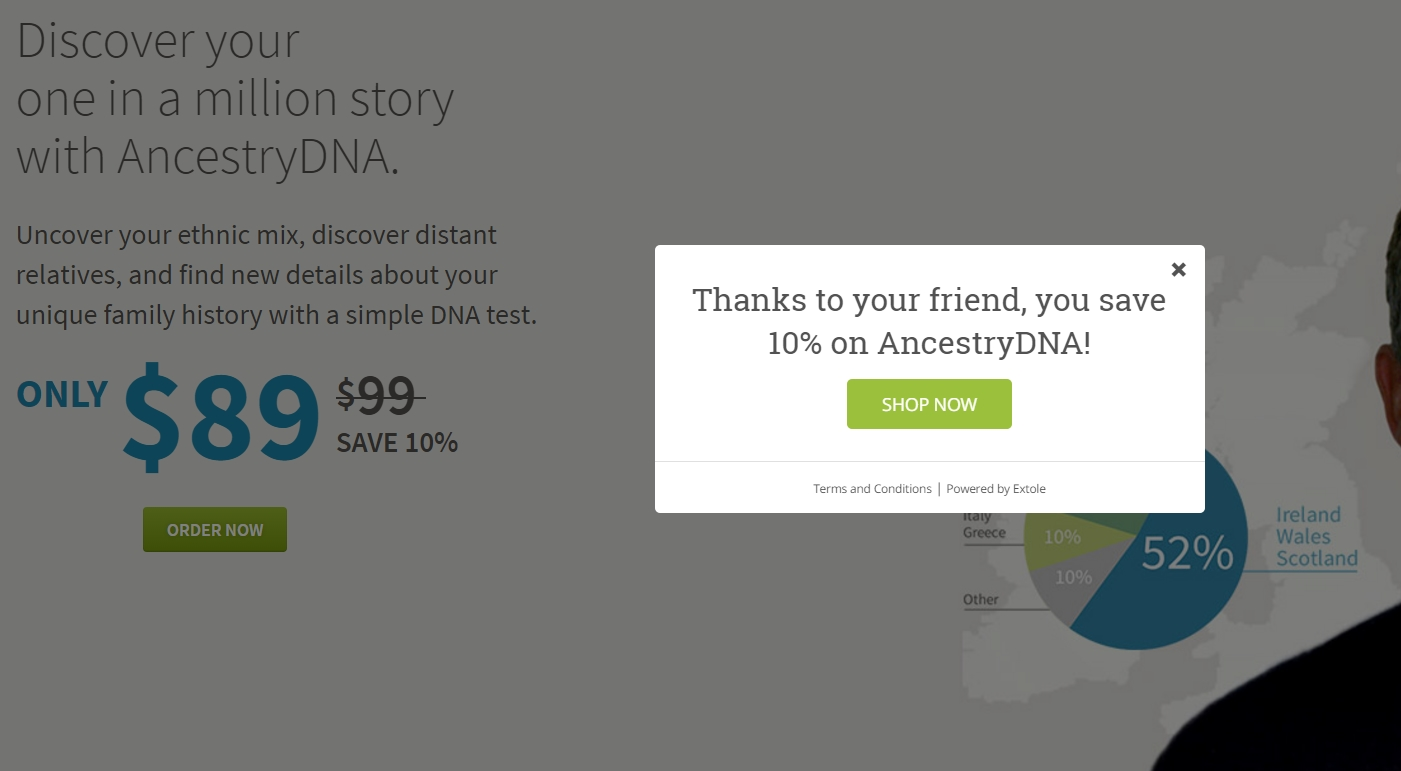 23andMe Coupons, Deals & Codes. Click here for 23andMe's latest deals and sales, which are often listed right on their homepage. And while you're there, sign up for emails to have exclusive offers delivered right to your inbox.