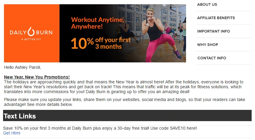 Get a FREE 30 Day Trial to DailyBurn! Lose more weight with tons of workout videos from DailyBurn. Workouts for beginners all the way to advanced. They have a huge variety of workouts including cardio, strength, yoga, kickboxing, abs, mobility, core, metabolic conditioning, stretching, and more! You can watch your workouts on your computer, iPad, iPhone, Android, Roku, TV and more.