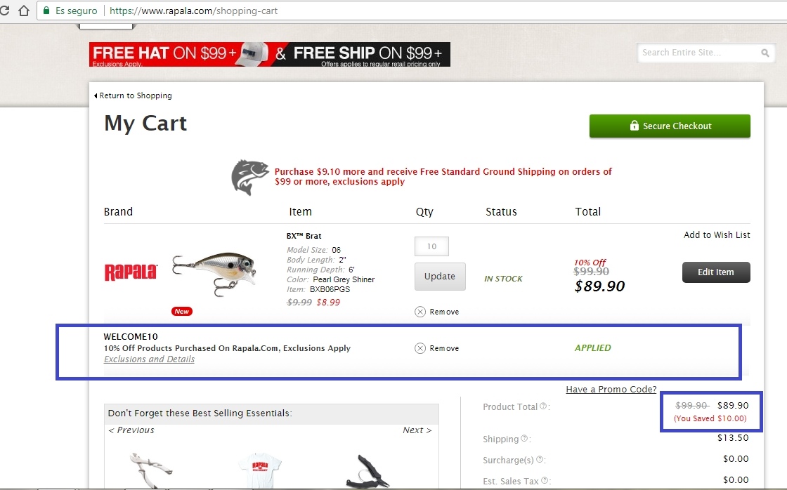 Save money on things you want with a Rapala Lures promo code or coupon. 50 Rapala Lures coupons now on RetailMeNot.