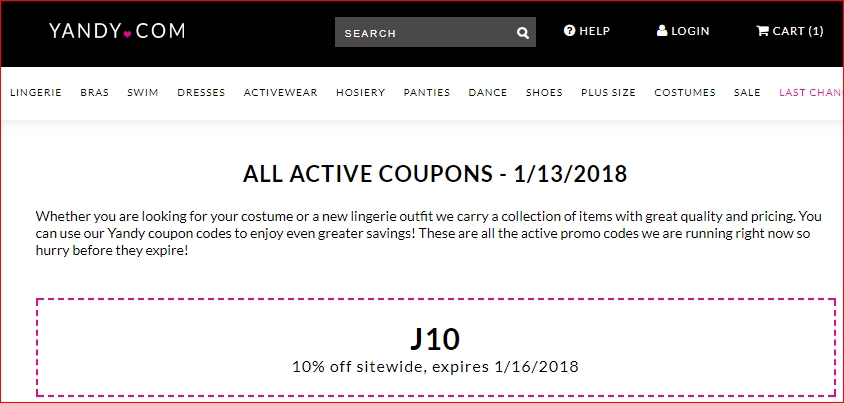 Yandy Promo Codes for December Save 10% w/ 18 active Yandy Promo Codes, Single-use codes and Sales. Today's best giveback.cf Coupon Code: Dealspotr Exclusive: 10% Off Purchases Over $85 + Free Shipping at Yandy (Site-Wide). Get crowdsourced + verified coupons at Dealspotr/5(24).