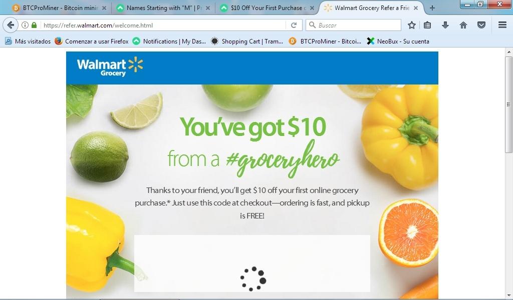 Walmart coupon codes 10 off