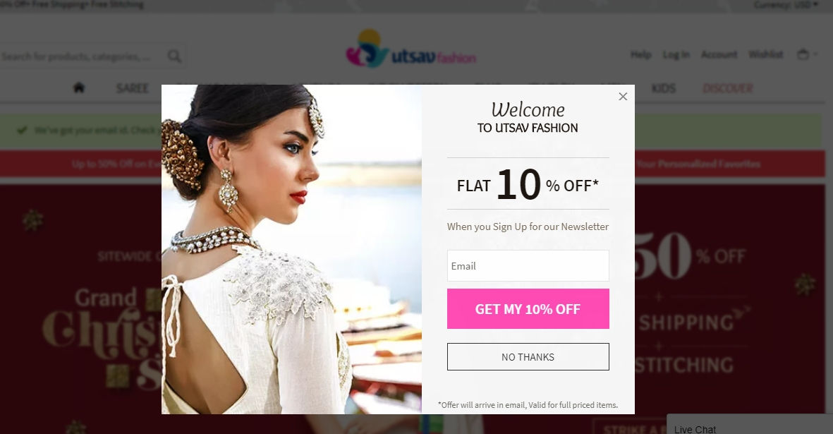 Go directly at metin2wdw.ga to discover and browse an immense range of wedding bridal sarees, embroidered products, traditional and modern lehengas, designer dresses and more. The code helps you save $10 on Any Single Salwar Suit of minimum $!