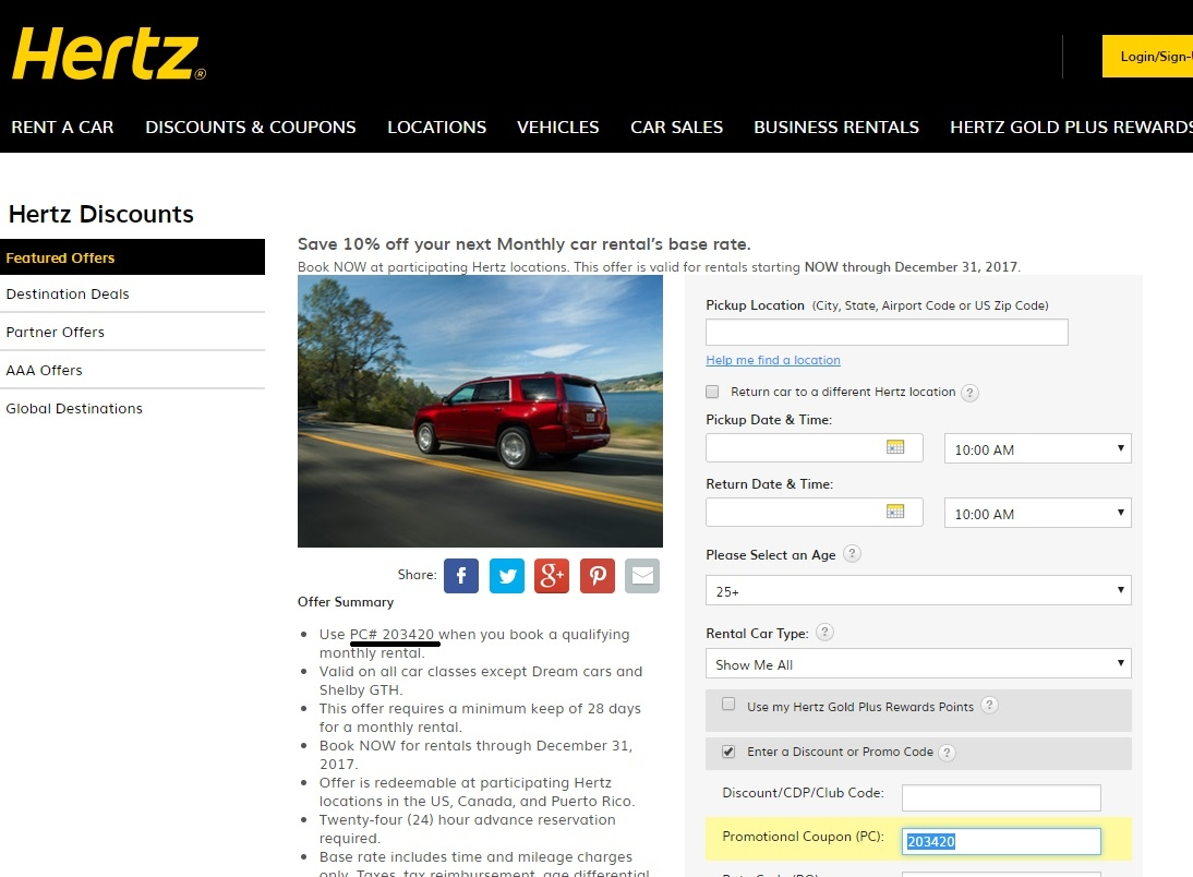 Hertz discount coupons ireland