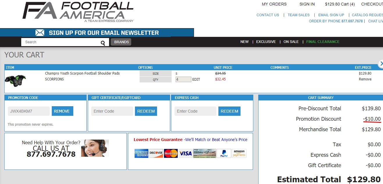 Football america coupon codes 2018