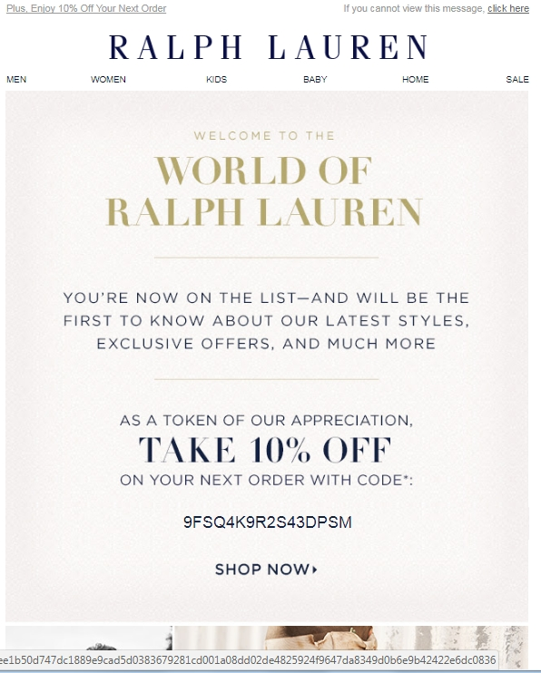 Ralph lauren coupon printable october 2018