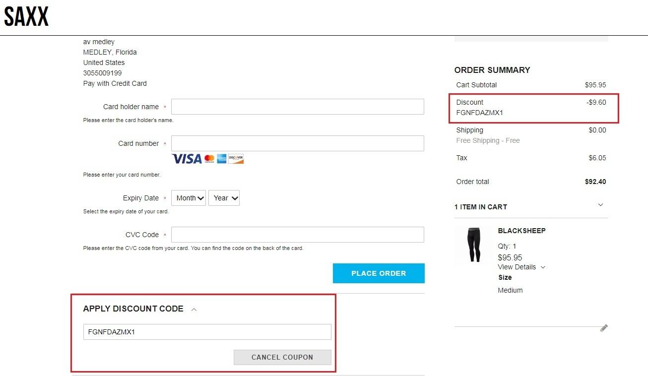 Saxx coupon code