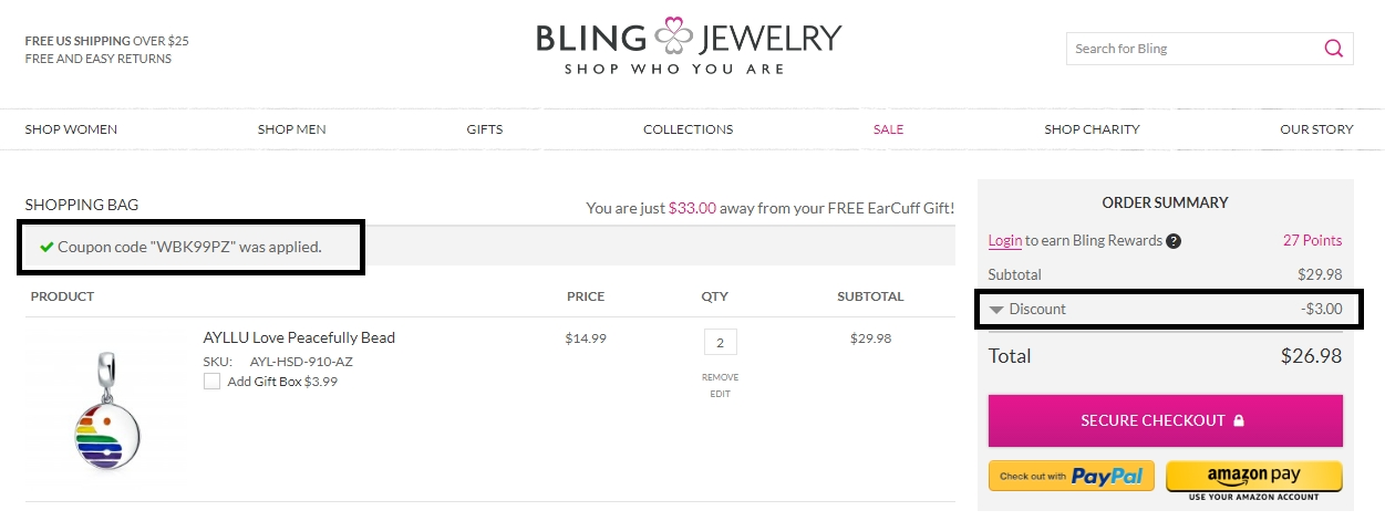 Bling coupon code