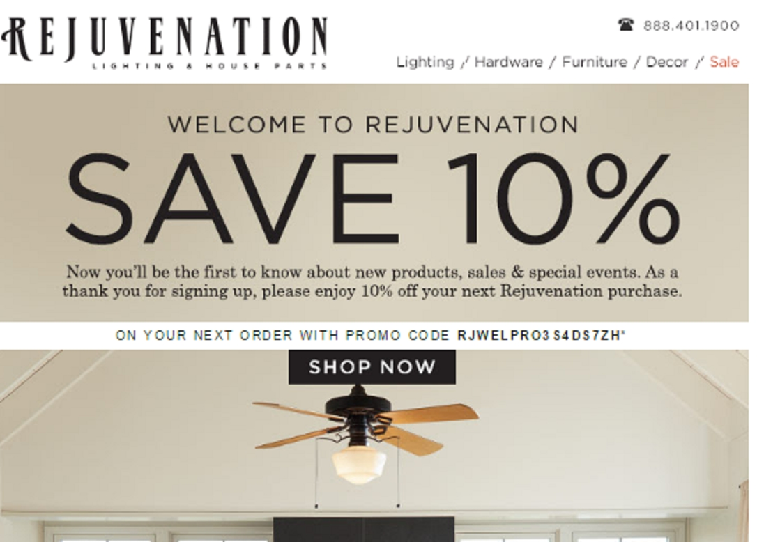 Rejuvenation coupon code