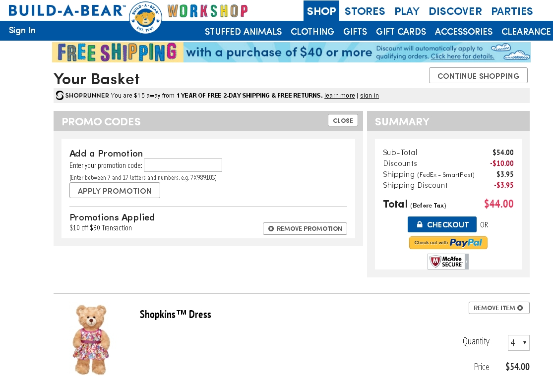 Promotion Codes For Build A Bear