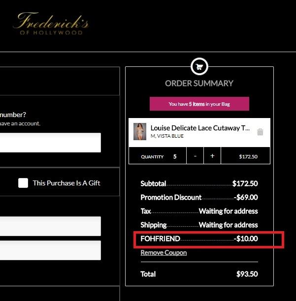Fredericks coupon code
