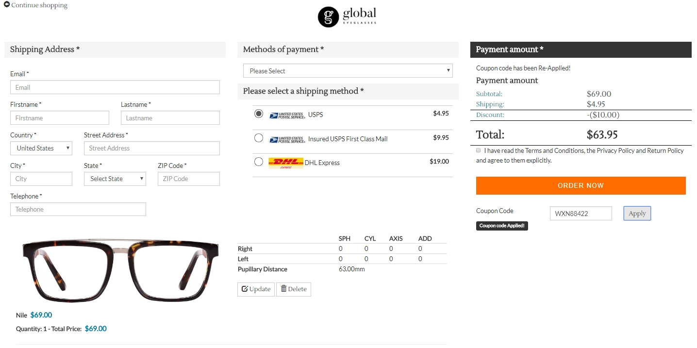 Global eyeglasses coupon code