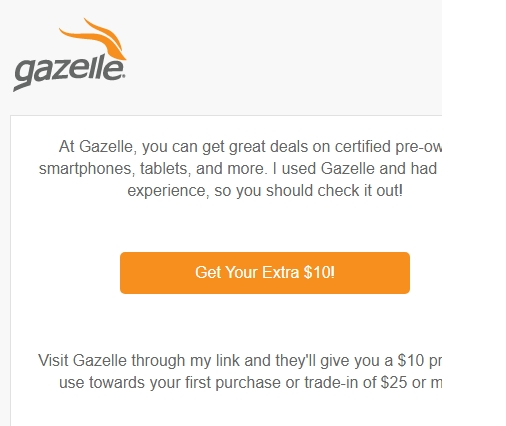 Gazelle coupon code