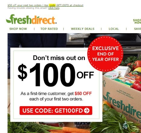 Freshdirect coupon code