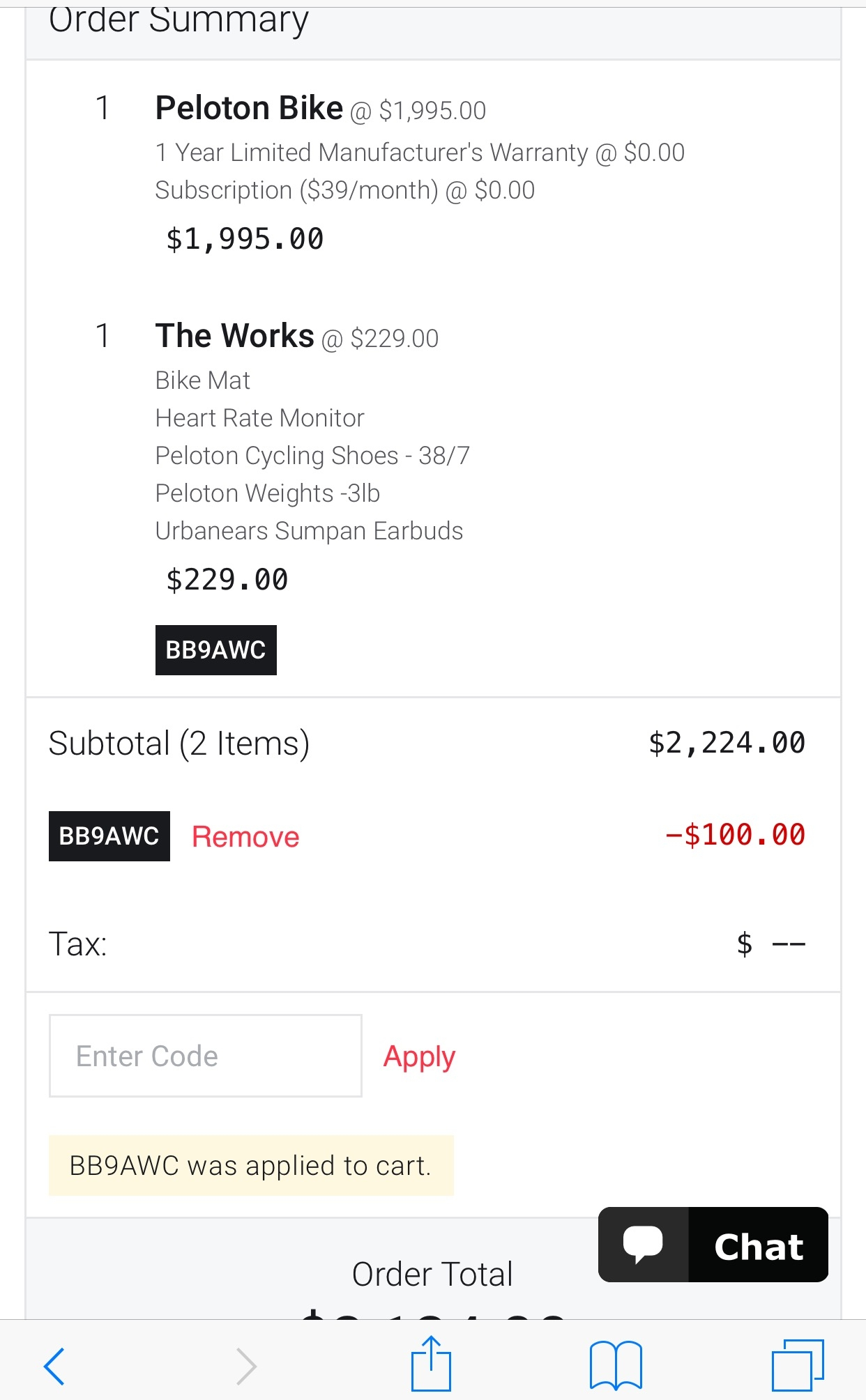 Peloton bike coupon code