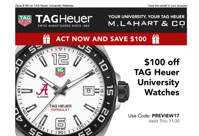 75 off tag heuer coupon code tag heuer 2017 promo codes dealspotr for Tag heuer discount