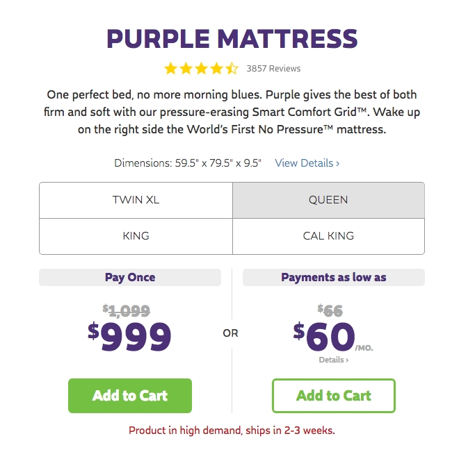 Purple coupon code