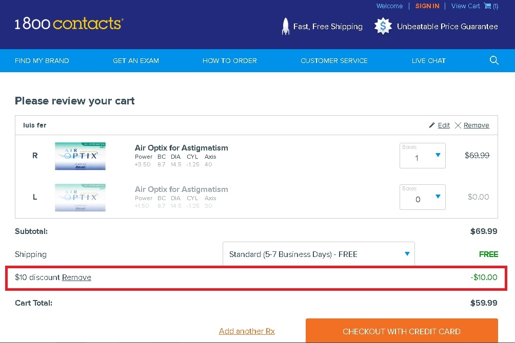 1800 contacts coupons