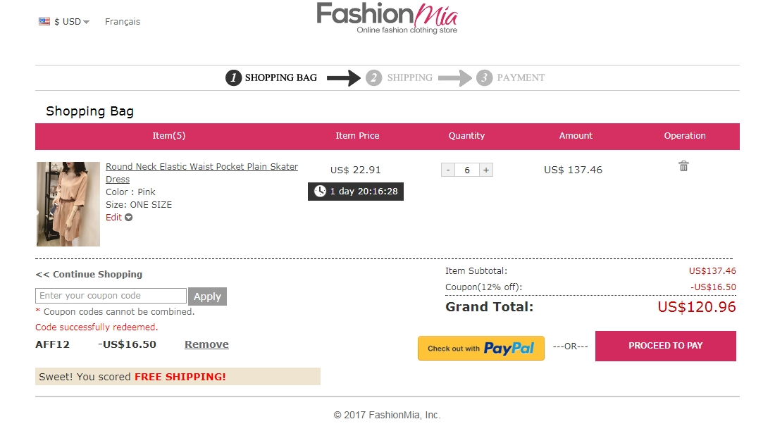 Fashion mia coupon code