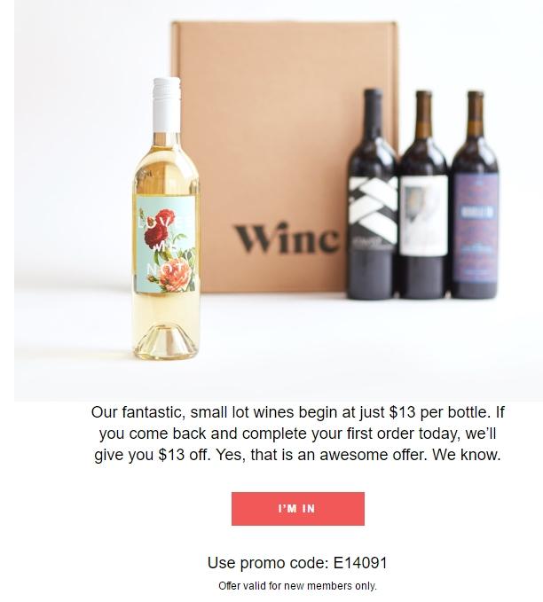 Winc coupon code