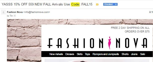 Get $75 Off @ Fashion Nova w/ Coupon Code  $75 Off Winter Arrivals