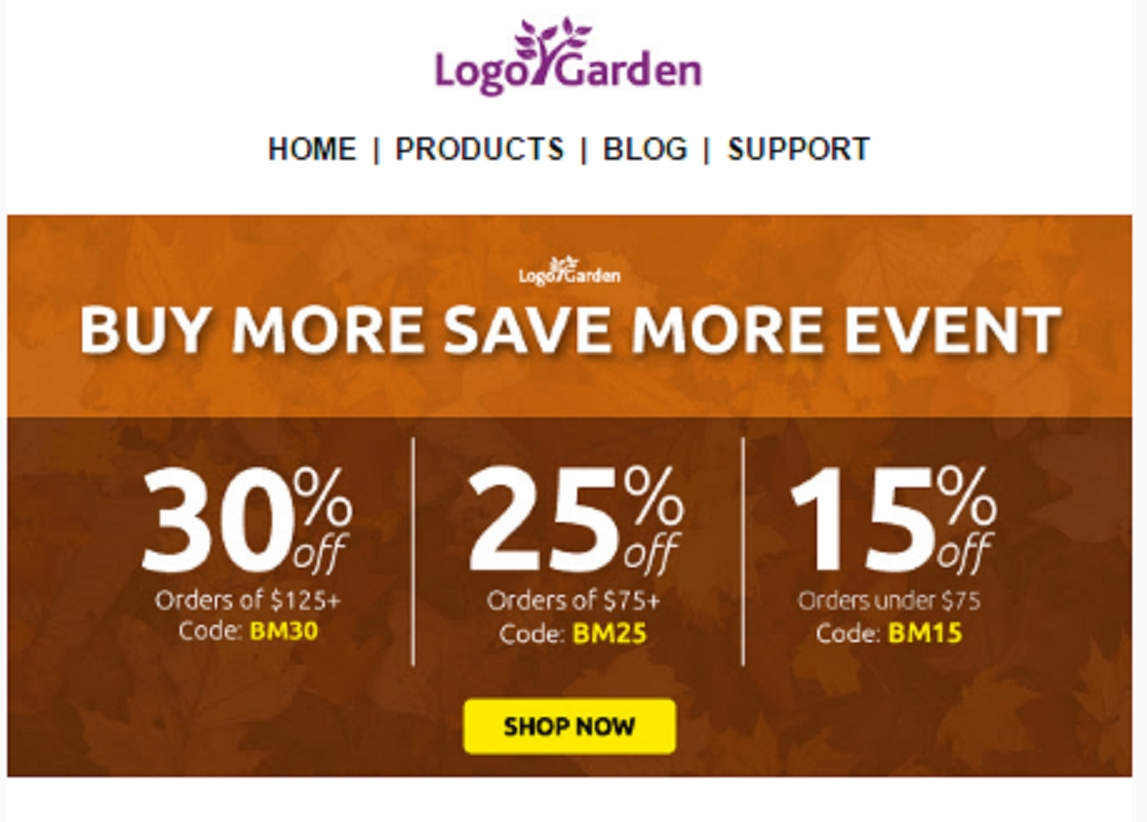 Logo garden coupon - September 2018 Deals