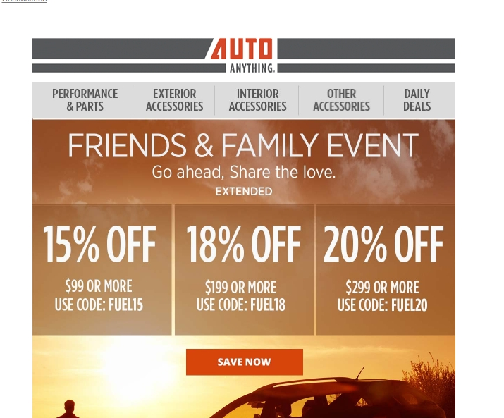 Autoanything coupon 2018